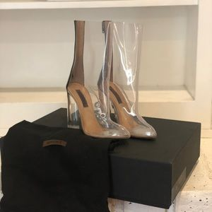 Yeezy Season 3 transparent heels